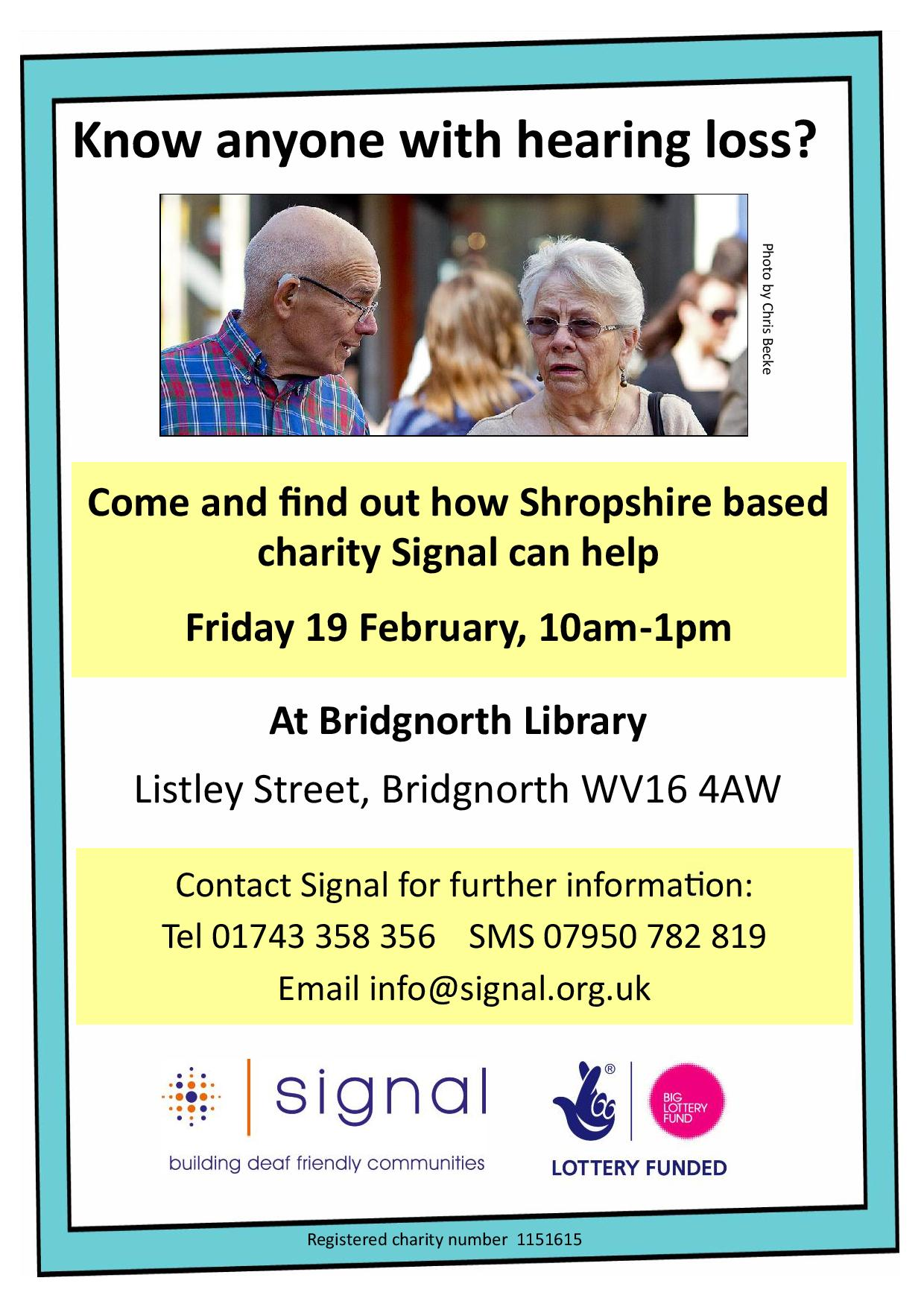 Bridgnorth Library drop-in poster
