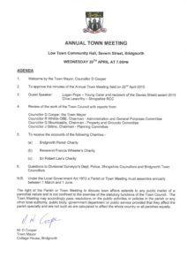 AGENDA-Annual Town Meeting 2016