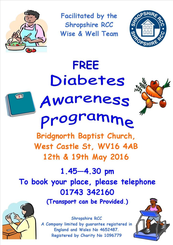 Bridgnorth Diabetes Poster- 12 May 16