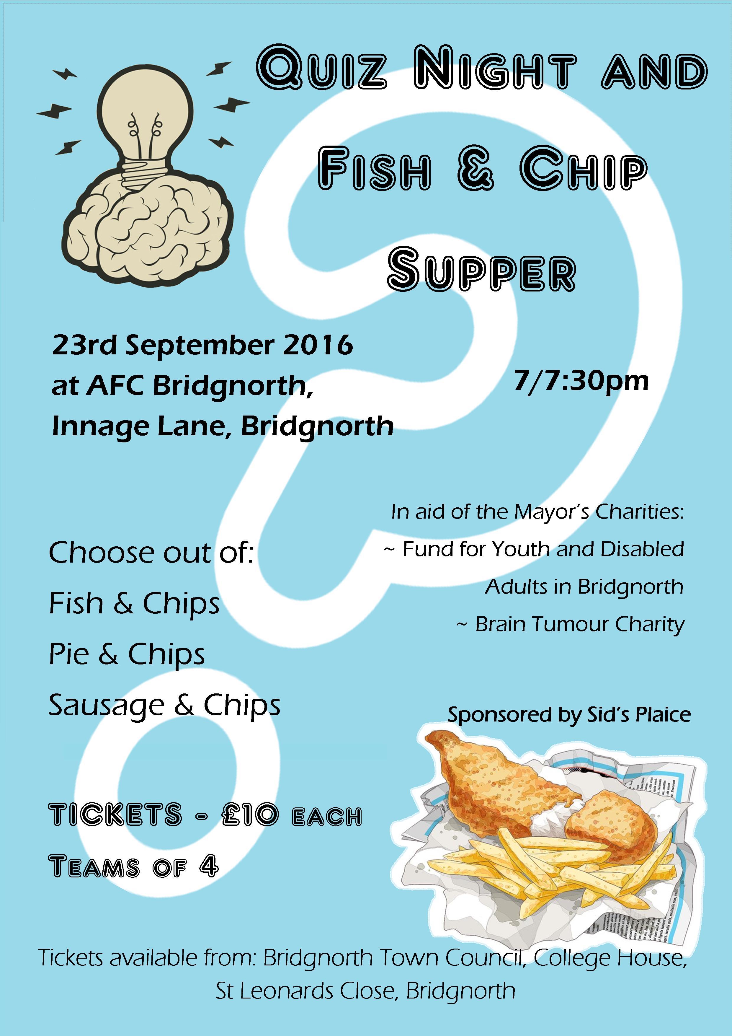 Fish-Chips quiz night poster