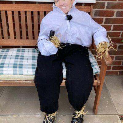 Simon Cowell Scarecrow
